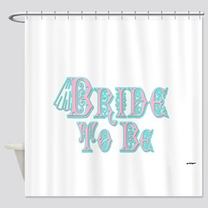 Bride To Be With Veil, Fancy Pink and Teal Type Sh