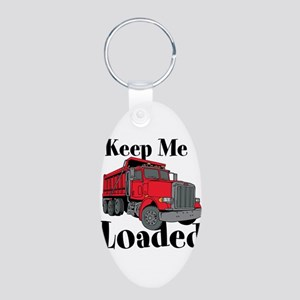 Keep Me Loaded Aluminum Oval Keychain Keychains
