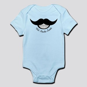 Mustache Smile Body Suit