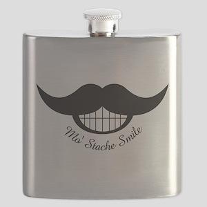 Mustache Smile Flask