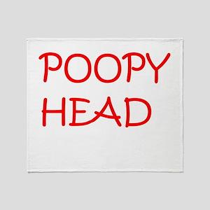 Poopy Head Throw Blanket