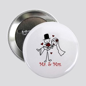 """Mr And Mrs 2.25"""" Button"""