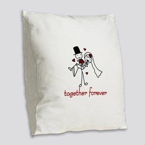 Together Forever Burlap Throw Pillow