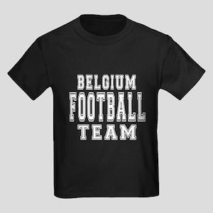 Belgium Football Team Kids Dark T-Shirt