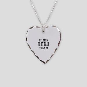 Belgium Football Team Necklace Heart Charm