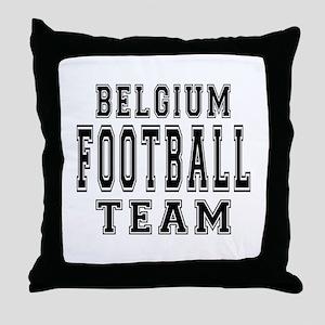Belgium Football Team Throw Pillow
