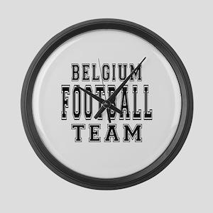 Belgium Football Team Large Wall Clock