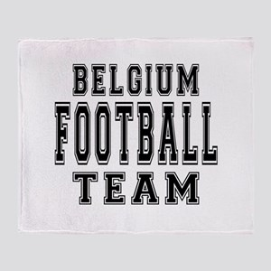 Belgium Football Team Throw Blanket