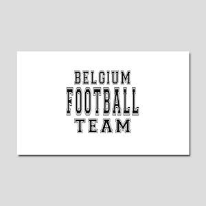 Belgium Football Team Car Magnet 20 x 12