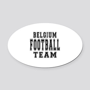 Belgium Football Team Oval Car Magnet