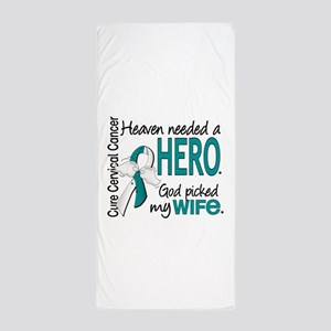Cervical Cancer HeavenNeededHero1.1 Beach Towel