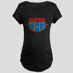 Super Mom Maternity Dark T-Shirt