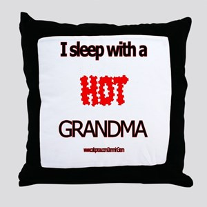 Grandpa's Hot Grandma Throw Pillow