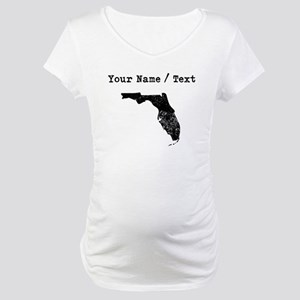 Custom Distressed Florida Silhouette Maternity T-S