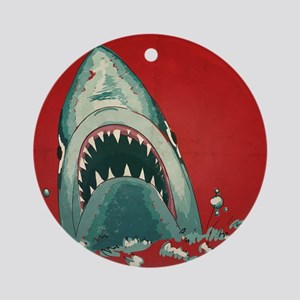 Shark Attack Ornament (Round)