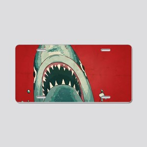 Shark Attack Aluminum License Plate