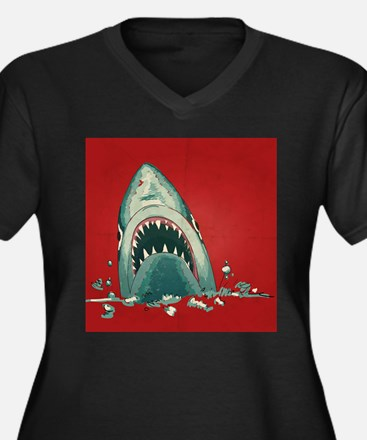 Shark Attack Plus Size T-Shirt