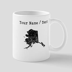 Custom Distressed Alaska Silhouette Mugs