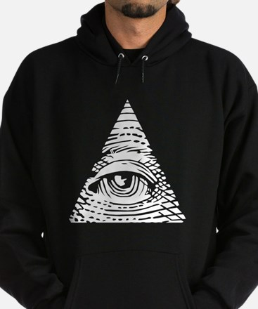 Eye of Providence White Hoodie