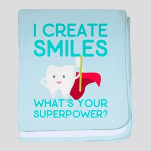I create Smiles What's Your Super Pow baby blanket