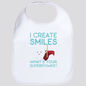I create Smiles What's Your Super Power Baby Bib