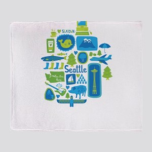 Sights of Seattle Throw Blanket