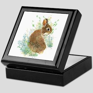 Cute Watercolor Bunny Rabbit Animal Art Keepsake B