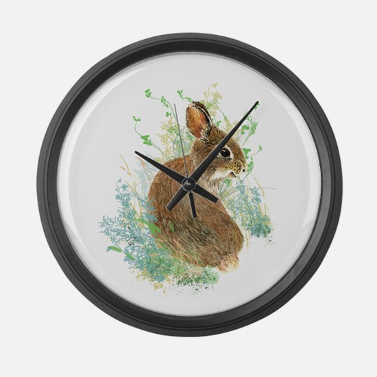 Cute Watercolor Bunny Rabbit Animal Art Large Wall