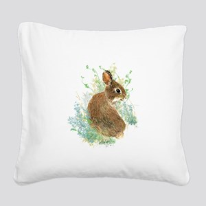 Cute Watercolor Bunny Rabbit Animal Art Square Can