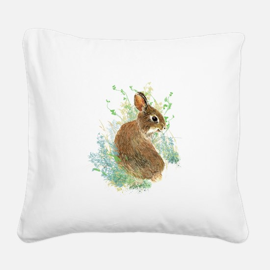 Cute Watercolor Bunny Rabbit Animal Art Square Can