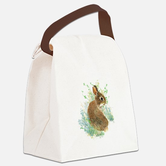 Cute Watercolor Bunny Rabbit Animal Art Canvas Lun