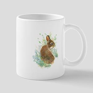 Cute Watercolor Bunny Rabbit Animal Art Mugs