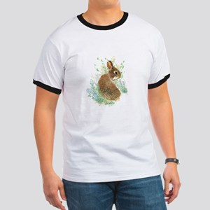 Cute Watercolor Bunny Rabbit Animal Art T-Shirt