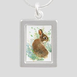 Cute Watercolor Bunny Rabbit Animal Art Necklaces