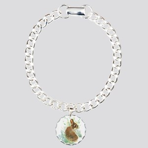 Cute Watercolor Bunny Rabbit Animal Art Charm Brac
