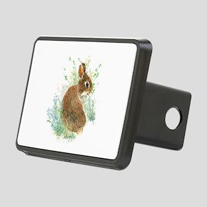Cute Watercolor Bunny Rabbit Animal Art Rectangula