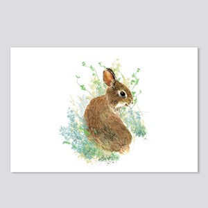 Cute Watercolor Bunny Rabbit Animal Art Postcards