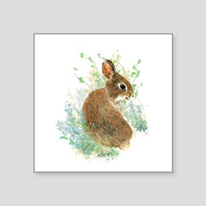Cute Watercolor Bunny Rabbit Animal Art Sticker