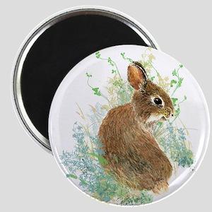 Cute Watercolor Bunny Rabbit Animal Art Magnets