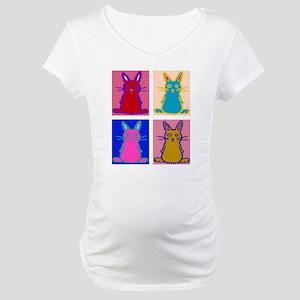 Pop Art Bunnies Maternity T-Shirt
