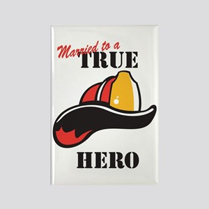 Married to a Firefighter Rectangle Magnet