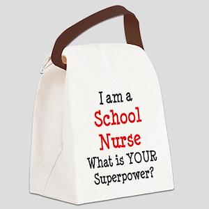 school nurse Canvas Lunch Bag