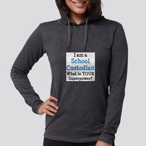 school custodian Womens Hooded Shirt