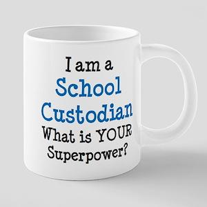 school custodian 20 oz Ceramic Mega Mug