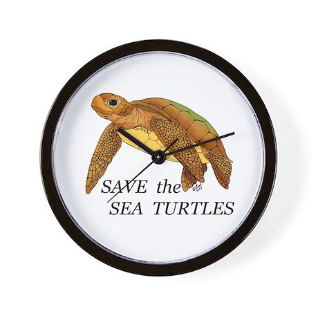 Save the Sea Turtles Wall Clock