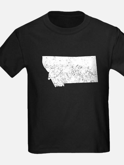 Distressed Montana Silhouette T-Shirt