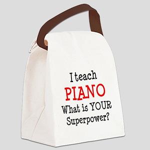 teach piano Canvas Lunch Bag