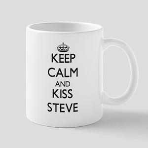 Keep Calm and Kiss Steve Mugs