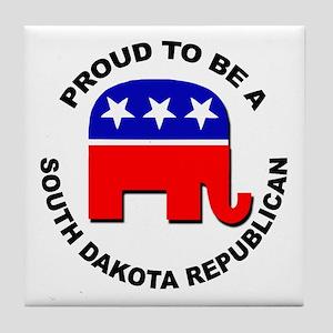 Proud South Dakota Republican Tile Coaster