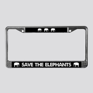 Save The Elephants License Plate Frame